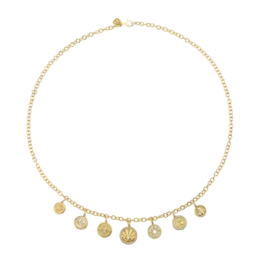 Gold & Diamond Multi-Medallion Necklace