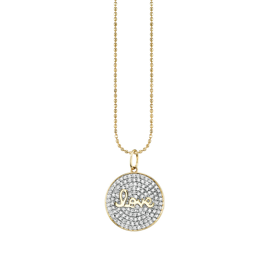 Gold & Diamond Love Medallion Necklace