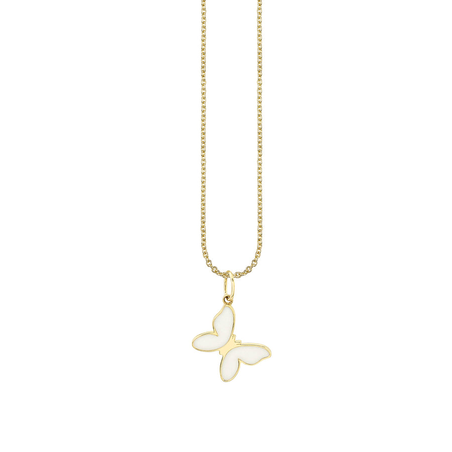 Gold & Enamel Small Butterfly Necklace