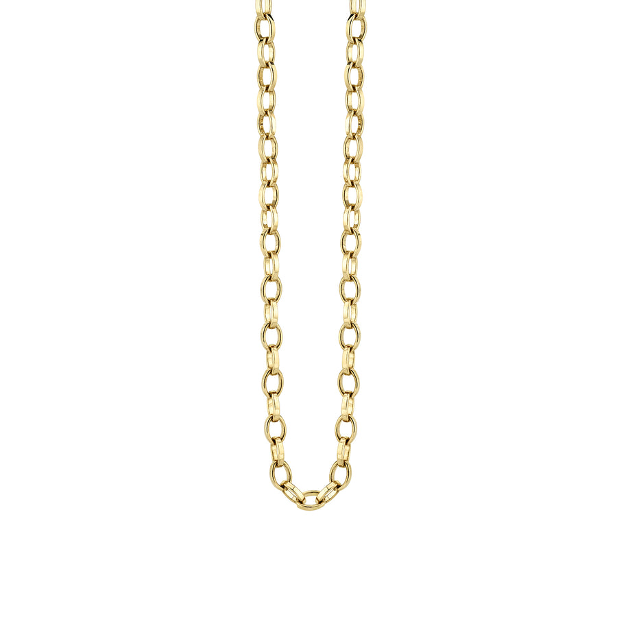 14k Gold Flat Oval Link Chain