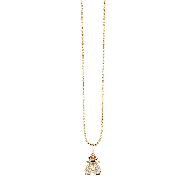 Gold & Diamond Small Fly Necklace