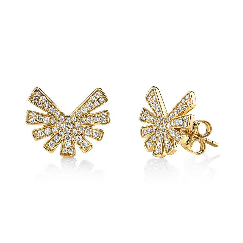 Gold & Diamond Burst Studs