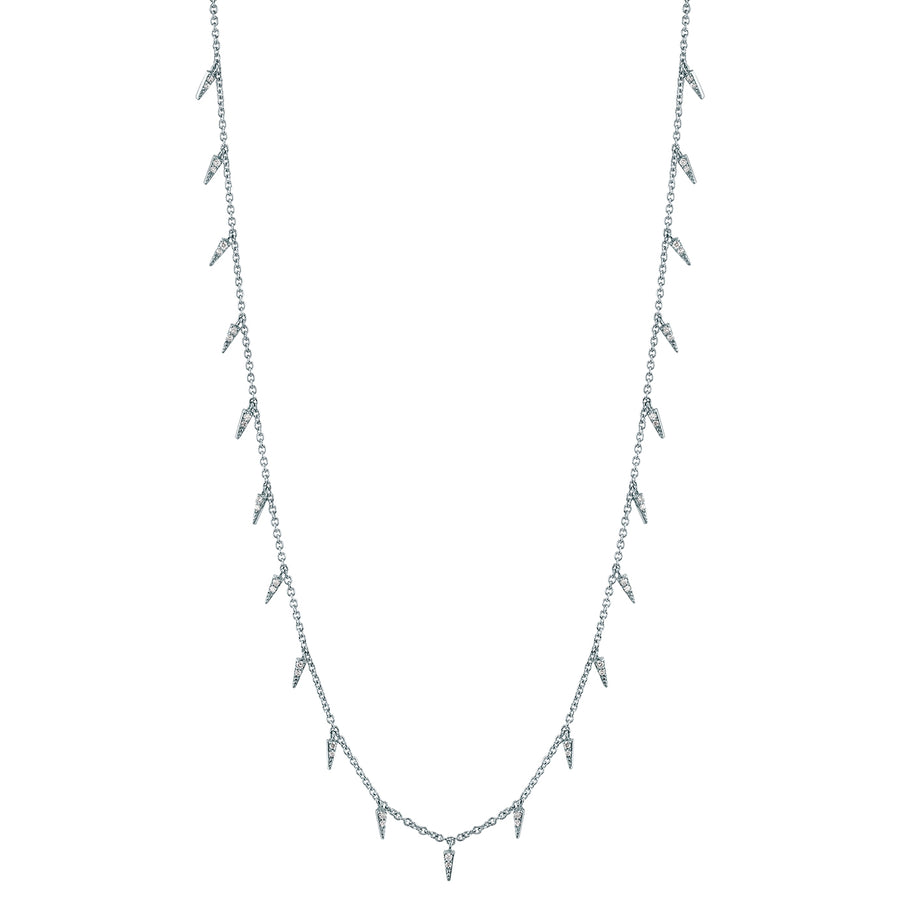 Gold & Diamond Fringe Drop Necklace