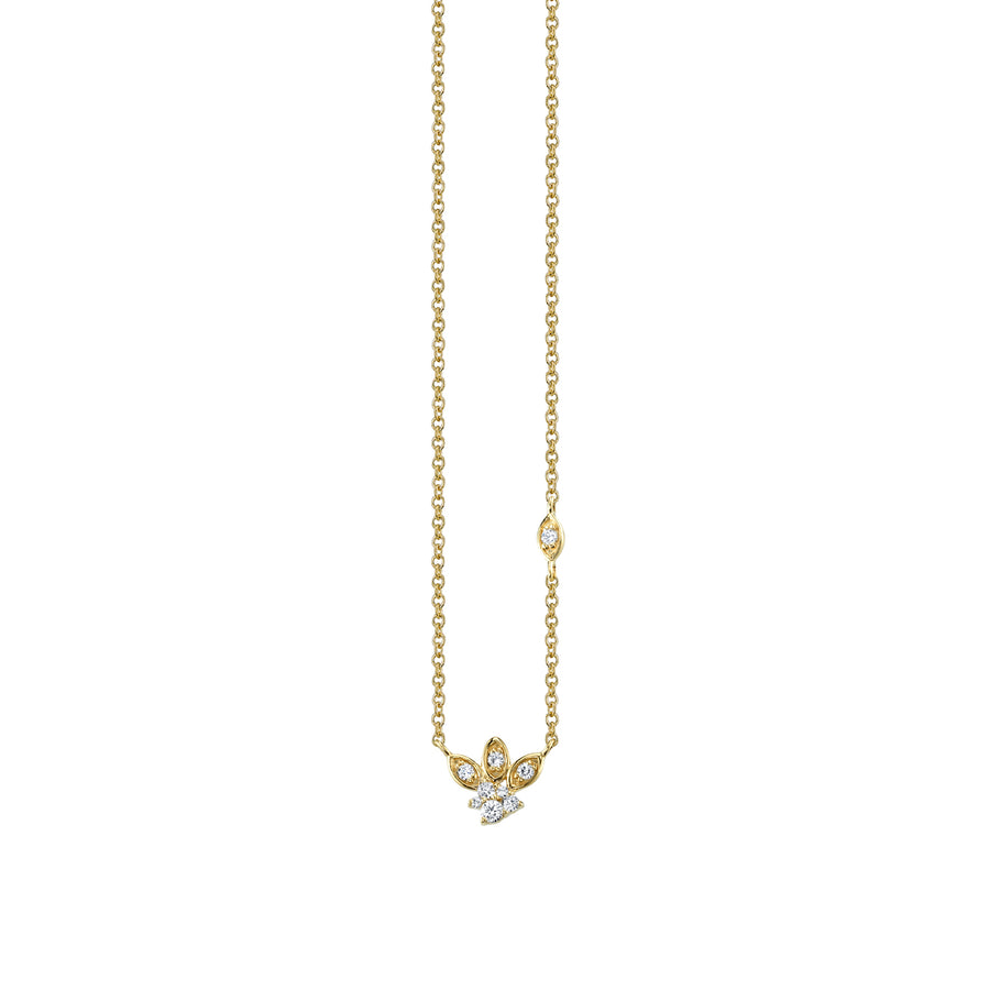 Gold & Diamond Marquis Petals Necklace