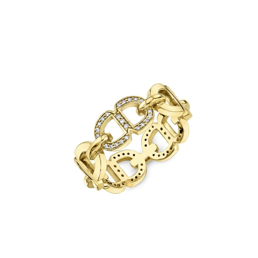 Gold & Diamond Love 18 Chain Link Eternity Ring