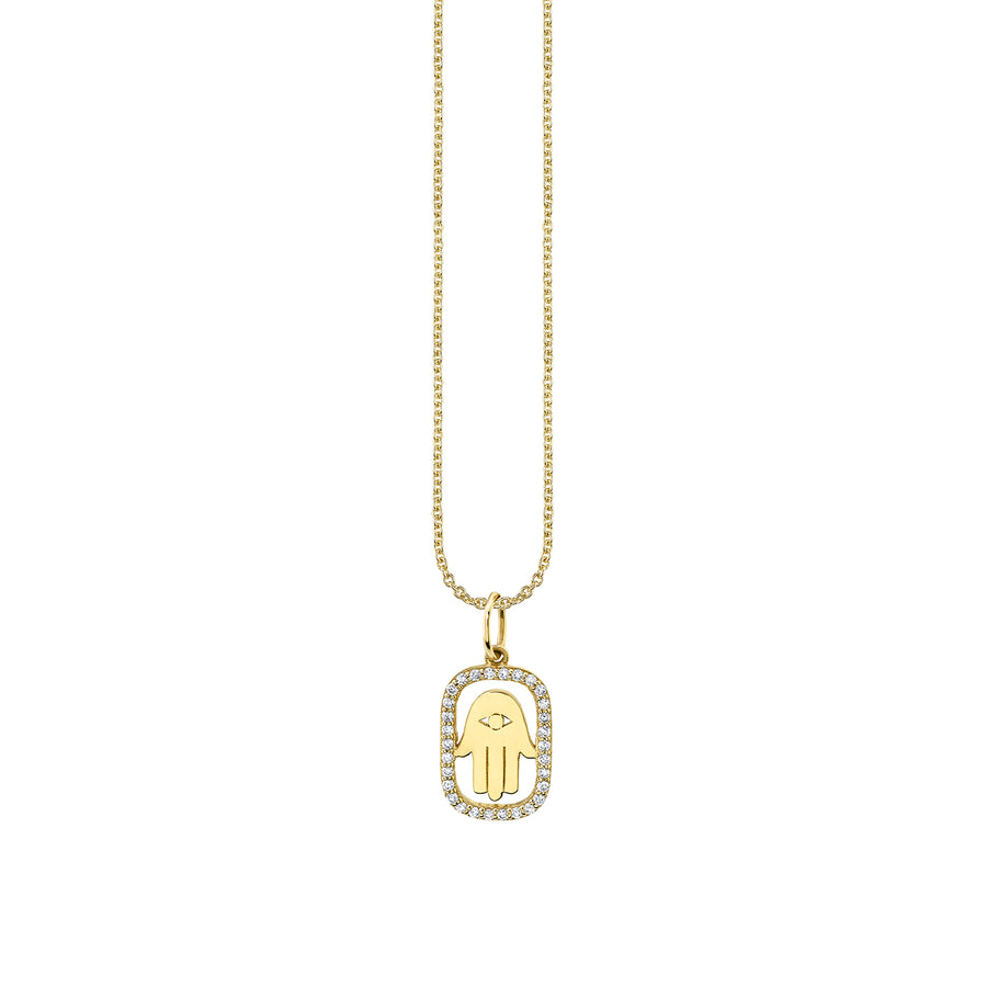 Gold & Diamond Hamsa Necklace