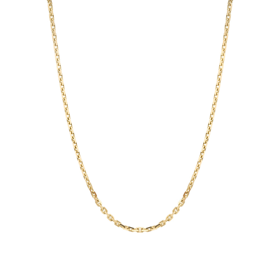 14K Gold Diamond Cut Cable Chain