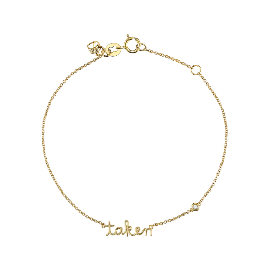 Yellow-Gold Plated Sterling Silver Taken Bracelet with Bezel Set Diamond