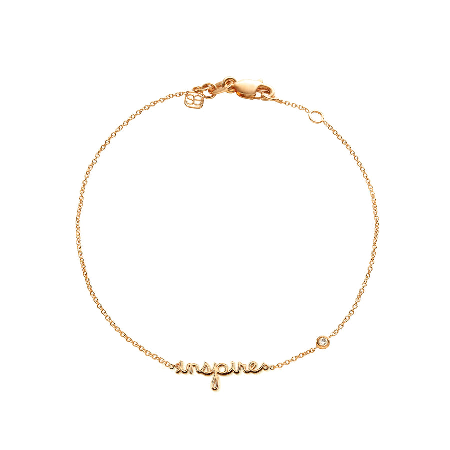 Yellow-Gold Plated Sterling Silver Inspire Bracelet with Bezel-Set Diamond