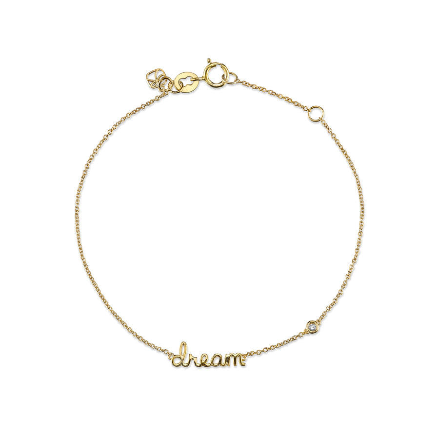 Yellow-Gold Plated Sterling Silver Dream Bracelet with Bezel Set Diamond