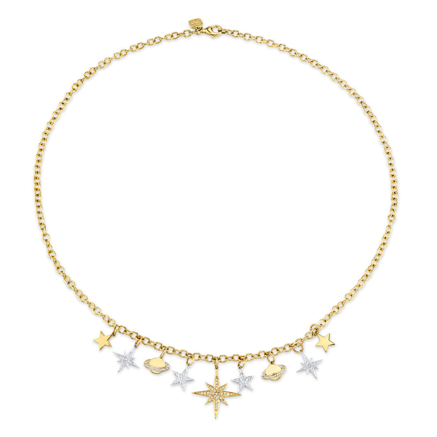 Stars & Planets Charm Necklace
