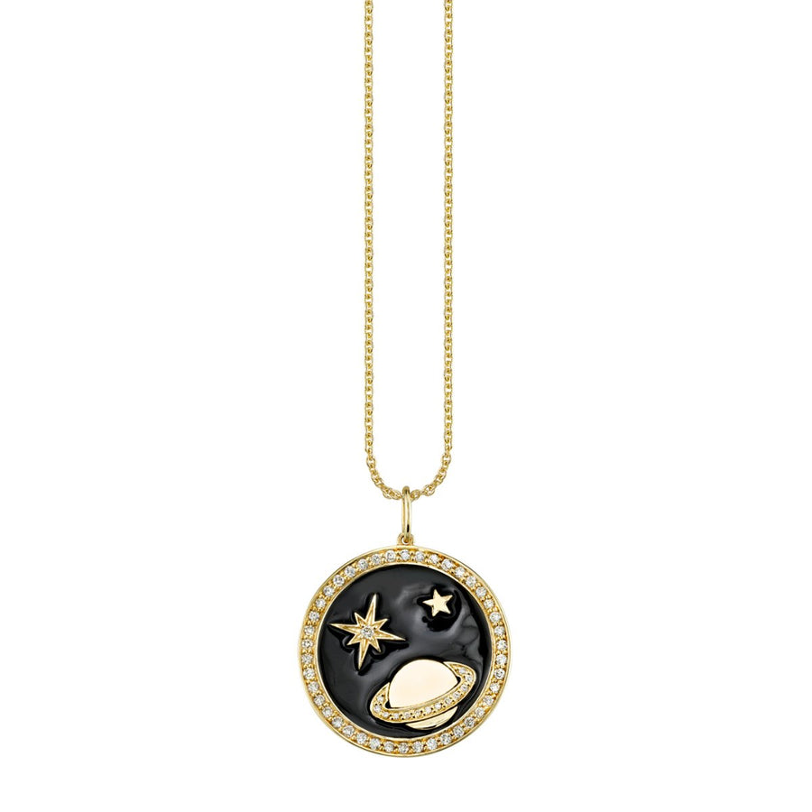 Large Celestial Tableau Medallion Necklace