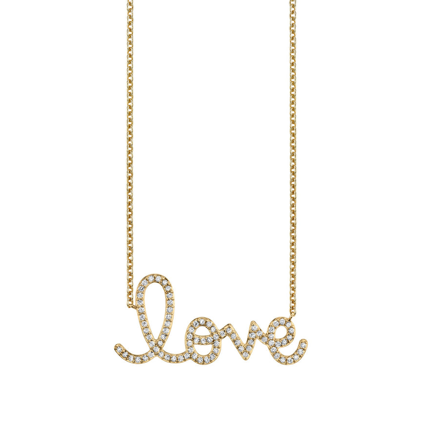 Extra Large Gold & Diamond Love Necklace