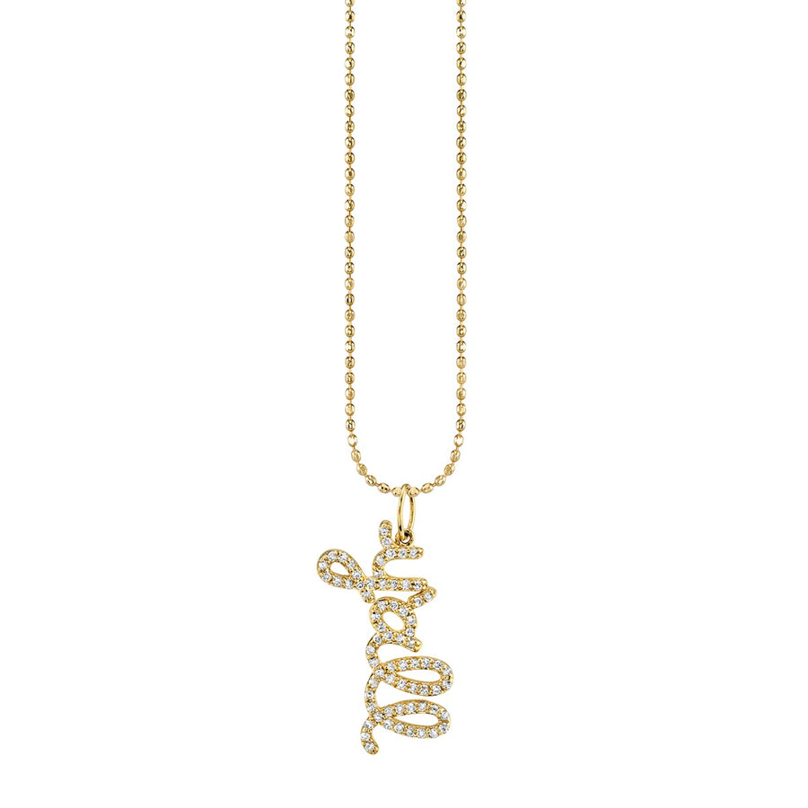 Yellow Gold and Diamond Y'all Necklace
