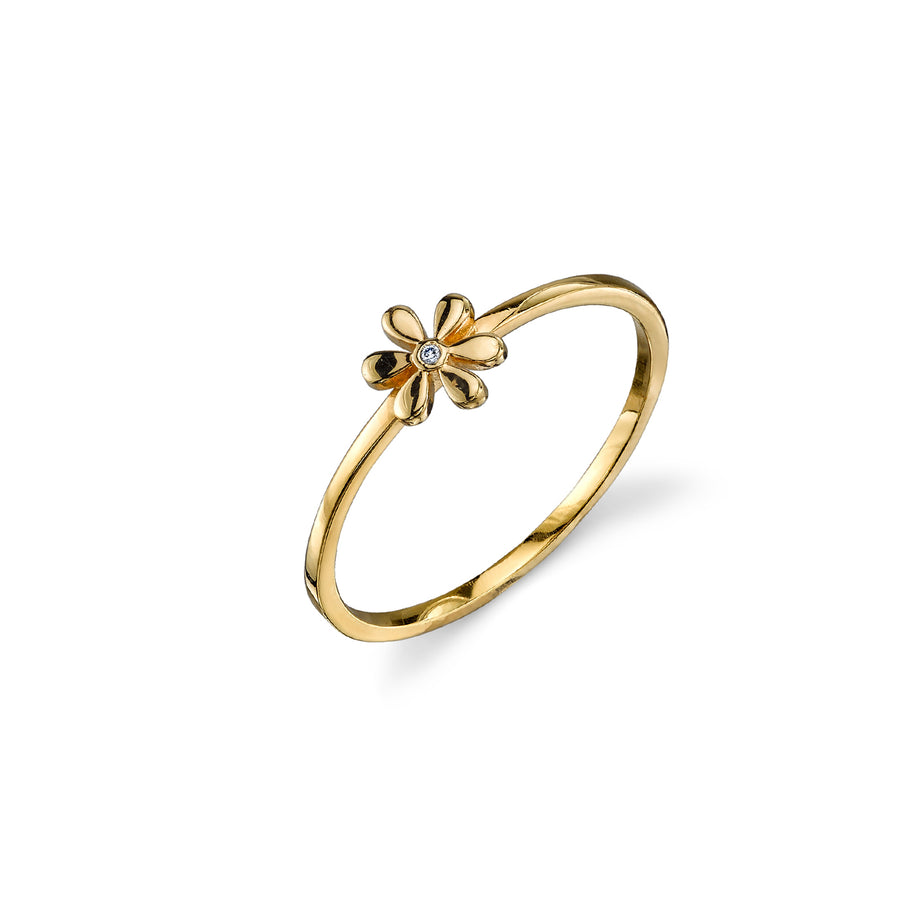 Yellow-Gold Plated Sterling Silver Daisy Ring