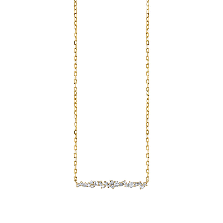 Gold & Diamond Small Cocktail Bar Necklace