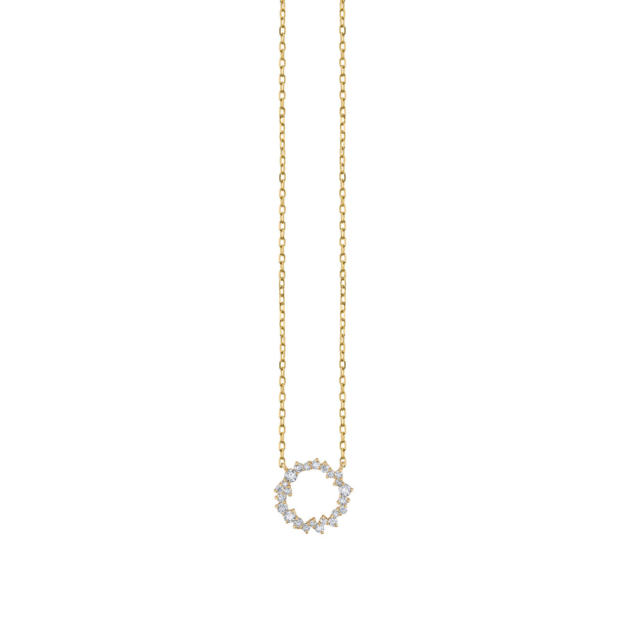 Gold & Diamond Small Cocktail Circle Necklace