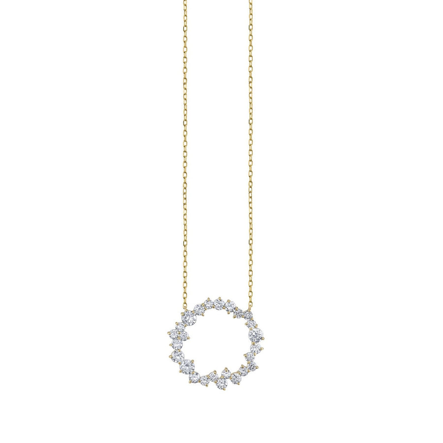 Gold & Diamond Cocktail Circle Necklace