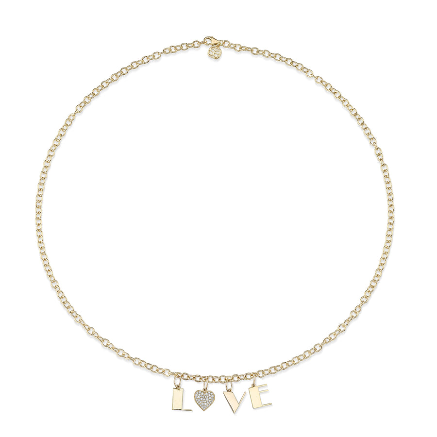 Gold & Diamond Love Necklace