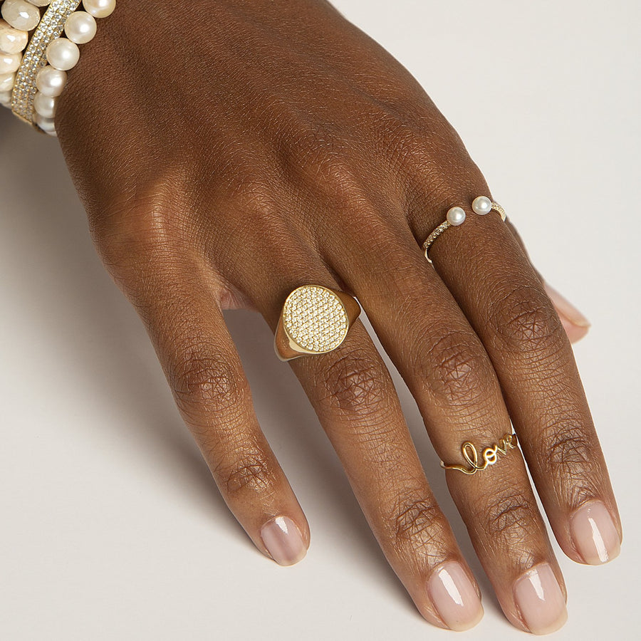 Small Yellow Gold Love Ring