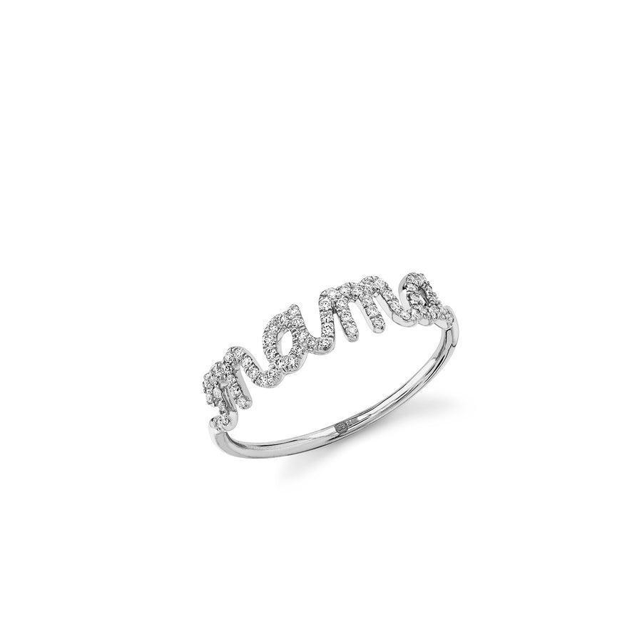 Gold & Diamond Mama Script Ring