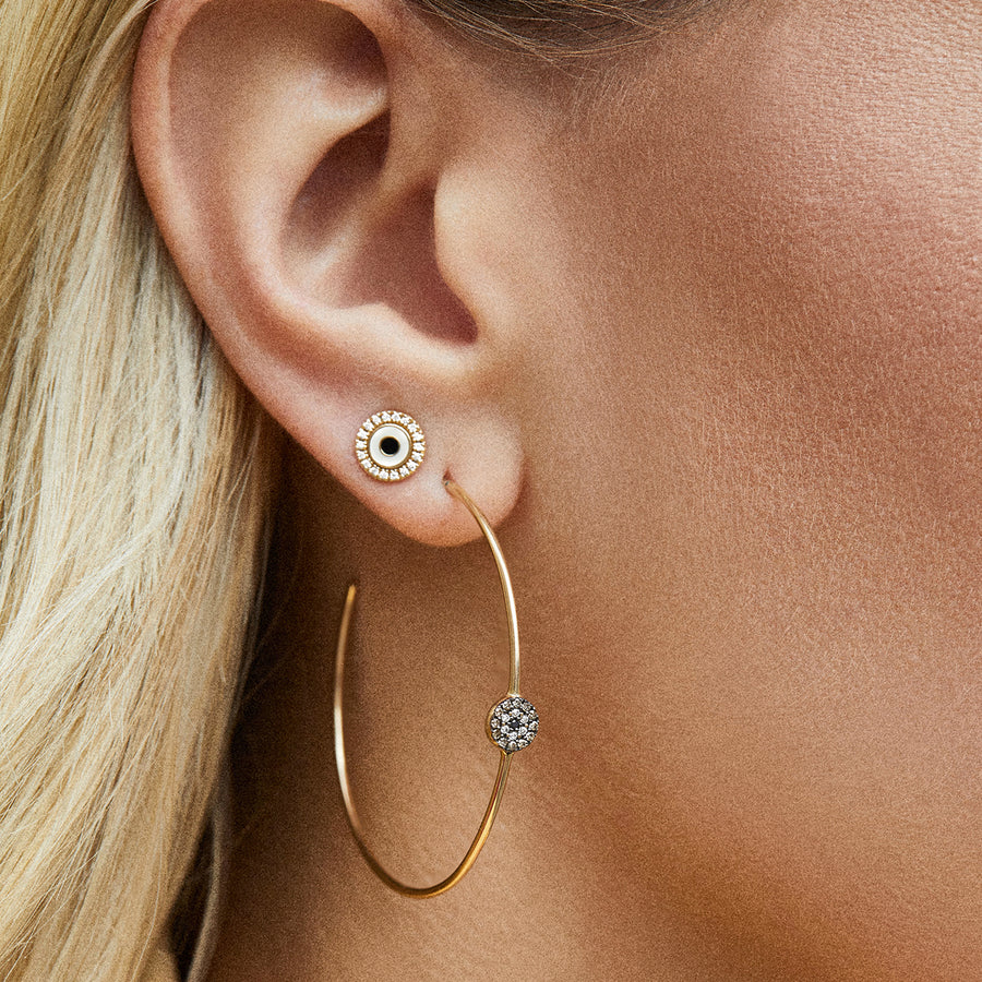Small Gold & Enamel Evil Eye Stud Earrings