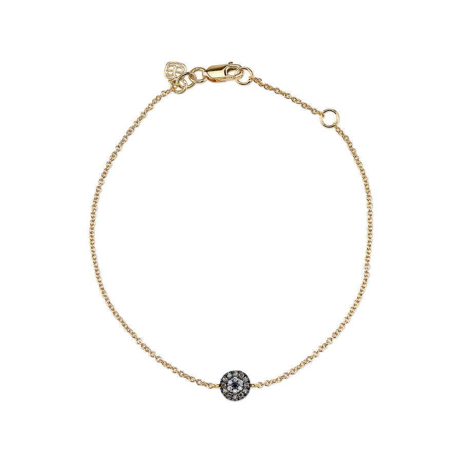 Gold & Diamond Tiny Evil Eye Bracelet