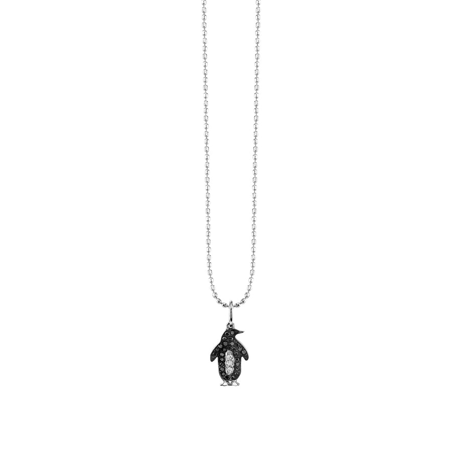 Gold & Diamond Penguin Necklace