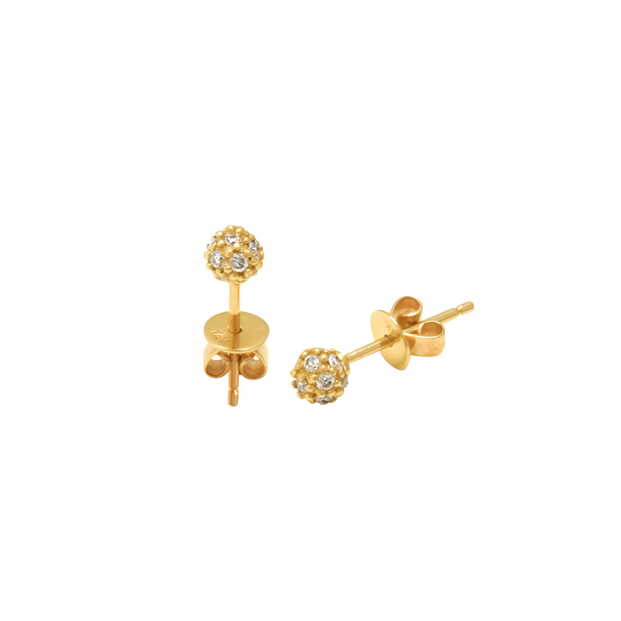 Gold & Diamond Small Ball Studs