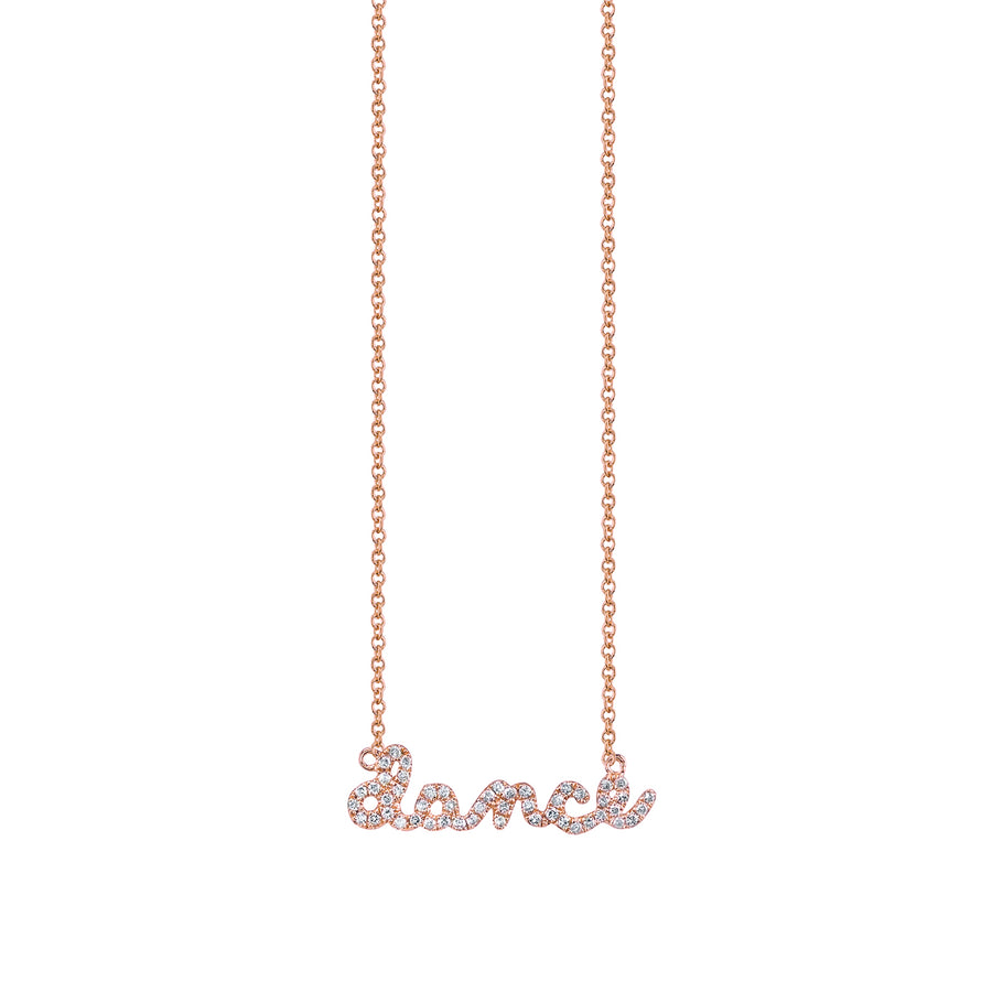 Gold & Pavé Diamond Dance Necklace