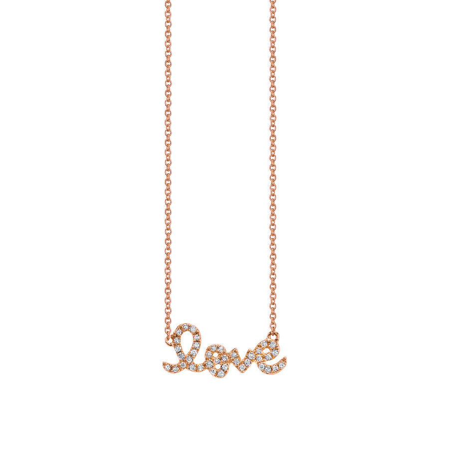 Small Gold & Diamond Love Necklace