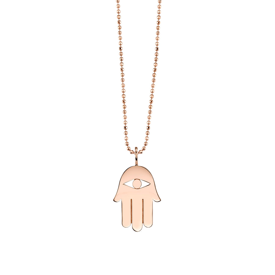 Pure Gold Hamsa Necklace