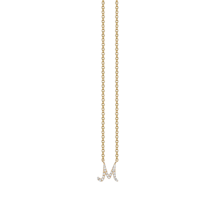 Gold & Diamond Small Initial Necklace