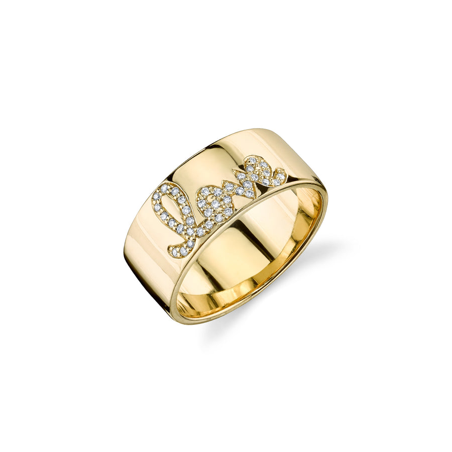Gold & Diamond Love Band Ring