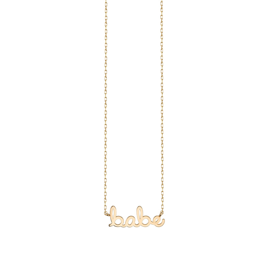 14k Pure Gold Small Babe Necklace