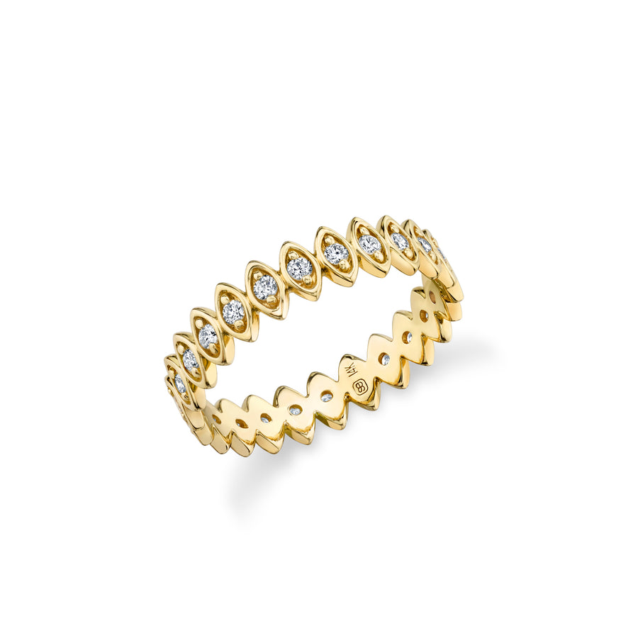 Gold & Diamond Vertical Marquis Eternity Ring