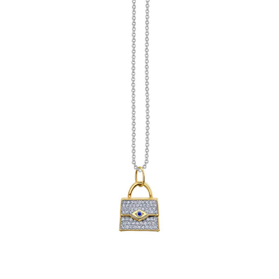 Gold & Diamond Handbag Necklace