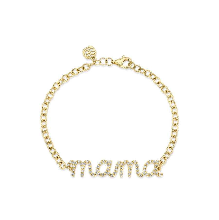 Gold & Diamond Mama Bracelet
