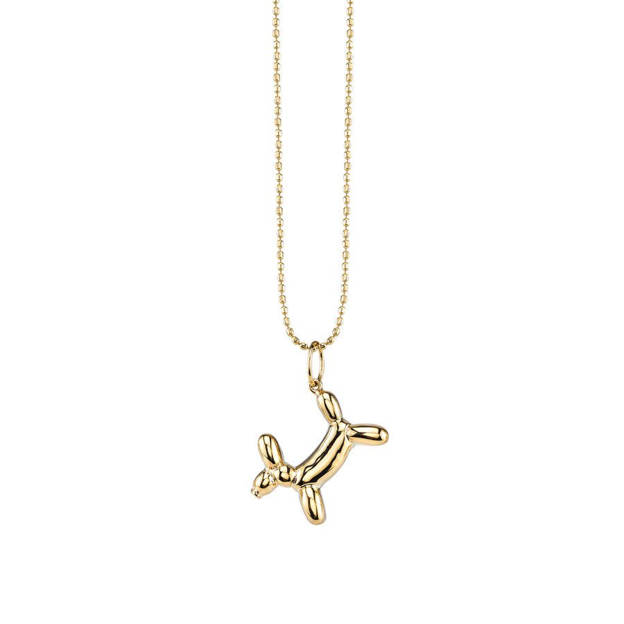 Yellow-Gold Balloon Dog Necklace