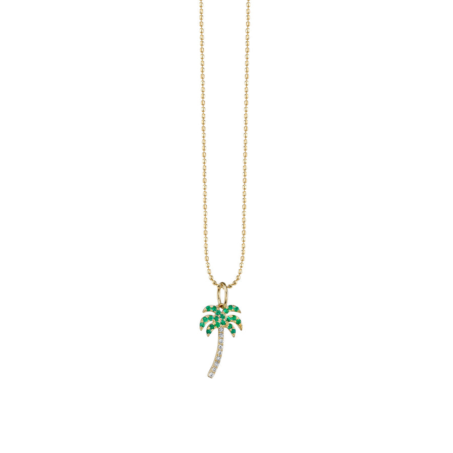 Gold & Diamond Palm Tree Necklace