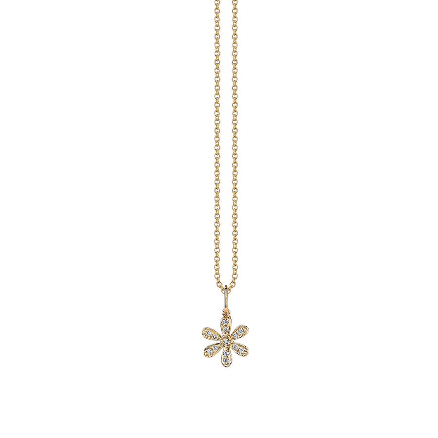 Yellow-Gold & Diamond Flower Necklace