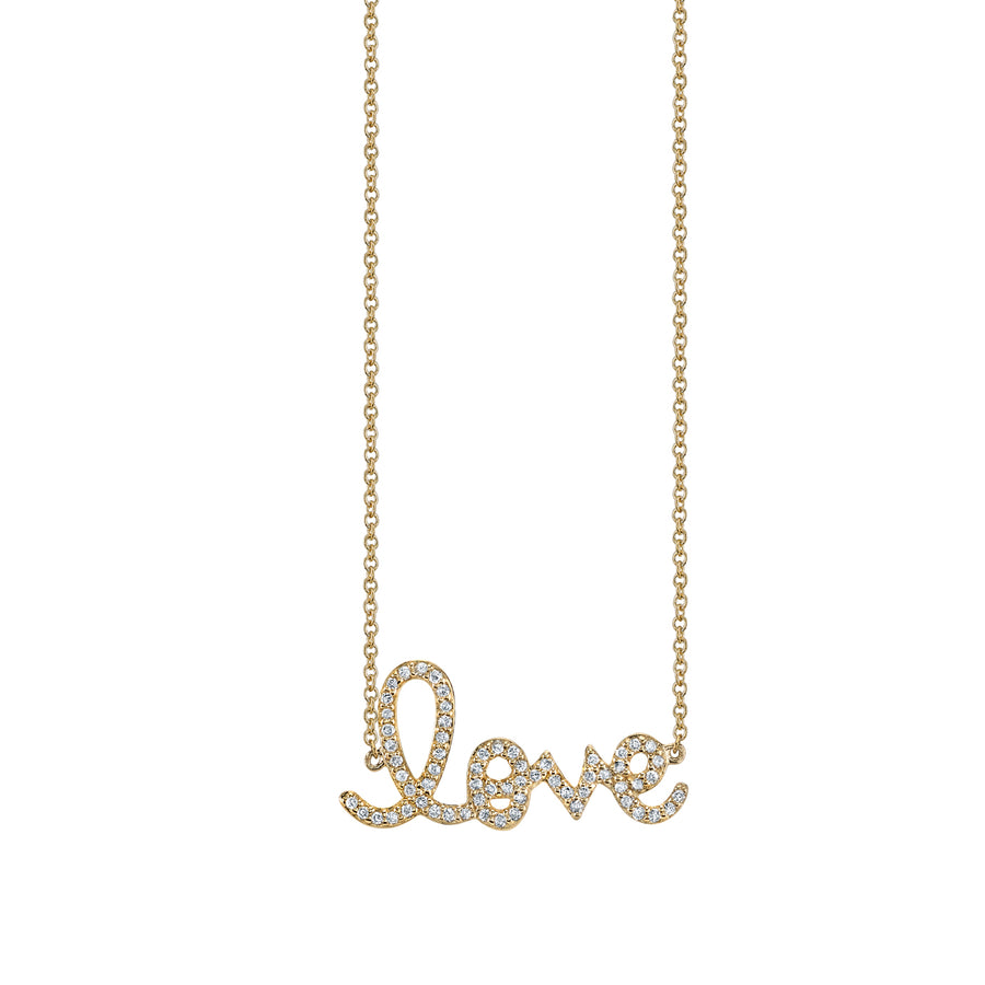 Medium Gold & Diamond Love Necklace