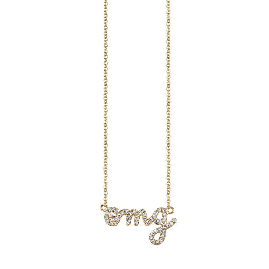 Yellow-Gold & Diamond OMG necklace