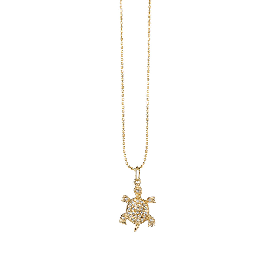 Yellow-Gold & Diamond Turtle Necklace