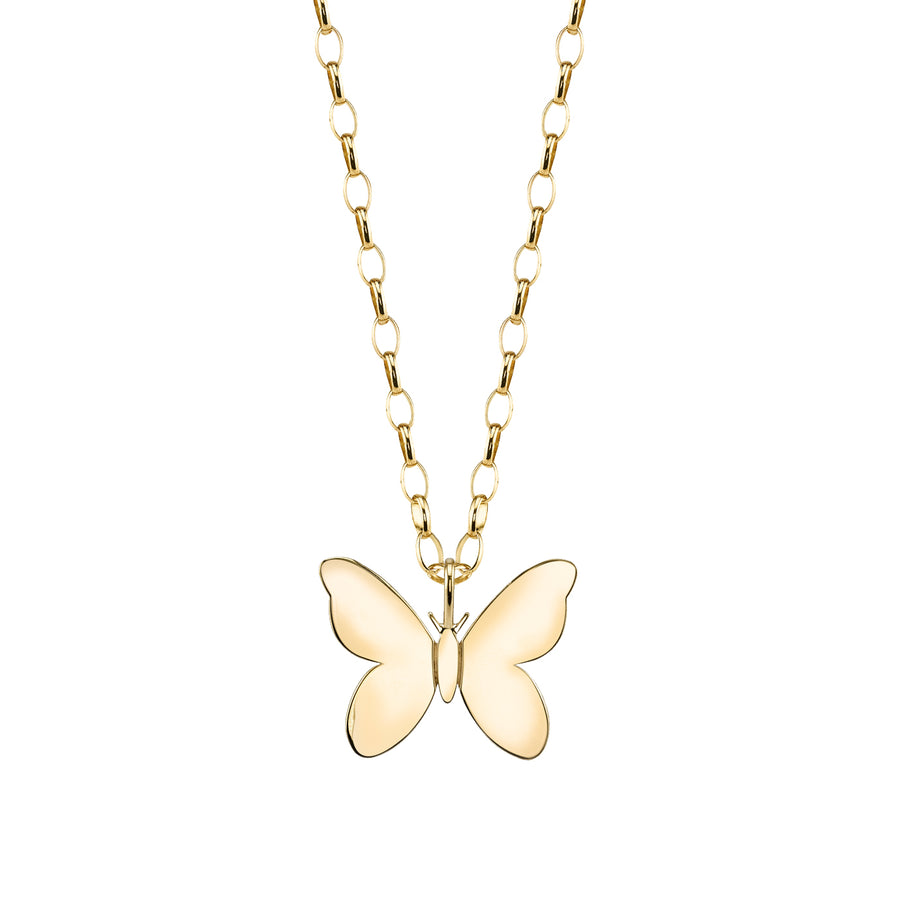 Yellow Gold Butterfly Necklace