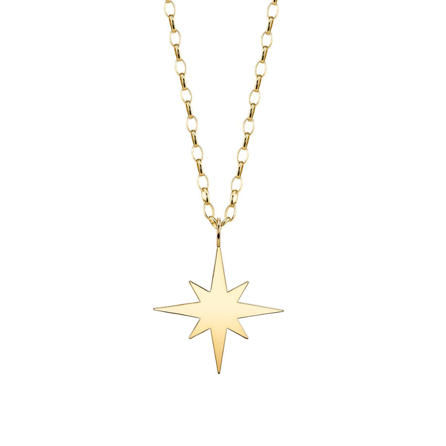 Pure Gold Starburst Necklace