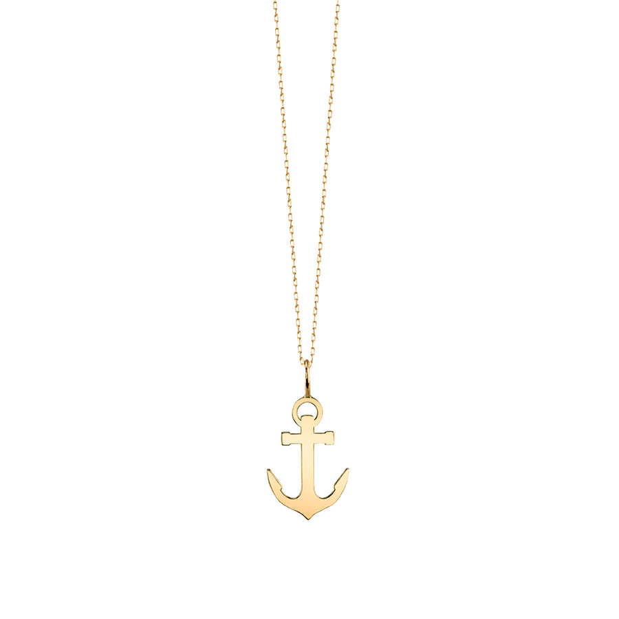 Small Yellow-Gold Anchor Necklace