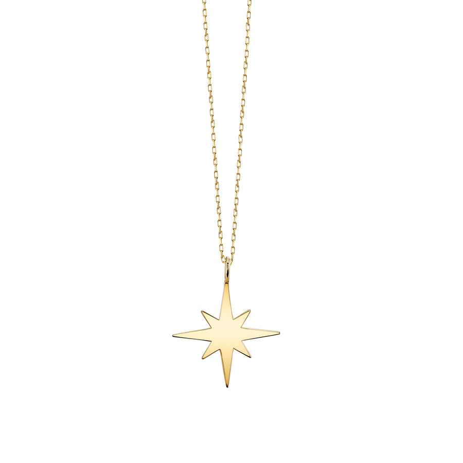Small Yellow-Gold Starburst Necklace