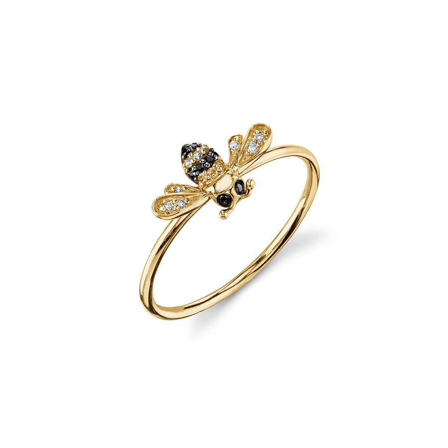 Yellow-Gold & Diamond Bumblebee Ring