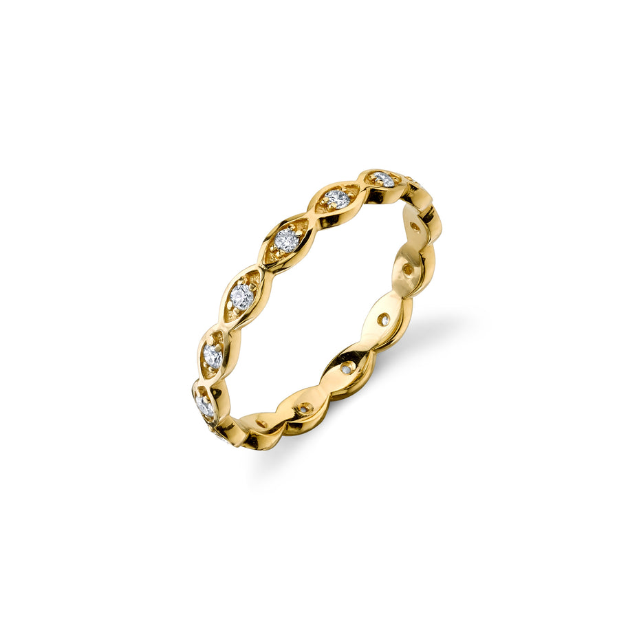 Gold & Diamond Evil Eye Eternity Band